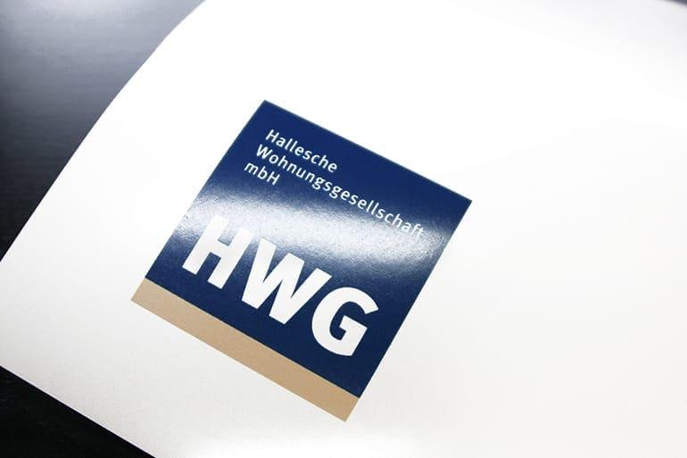 Logo-Entwicklung · Hallesche Wohnungsgesellschaft mbH