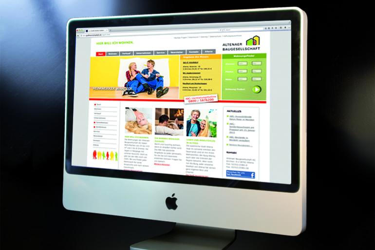 Webdesign · Altenaer Baugesellschaft